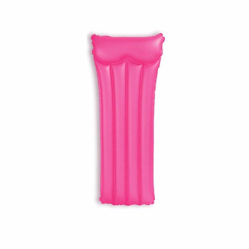 Пляжный надувной матрас для плавания Intex 59717 (Розовый) Neon Frost Air Mats (183х76 см)