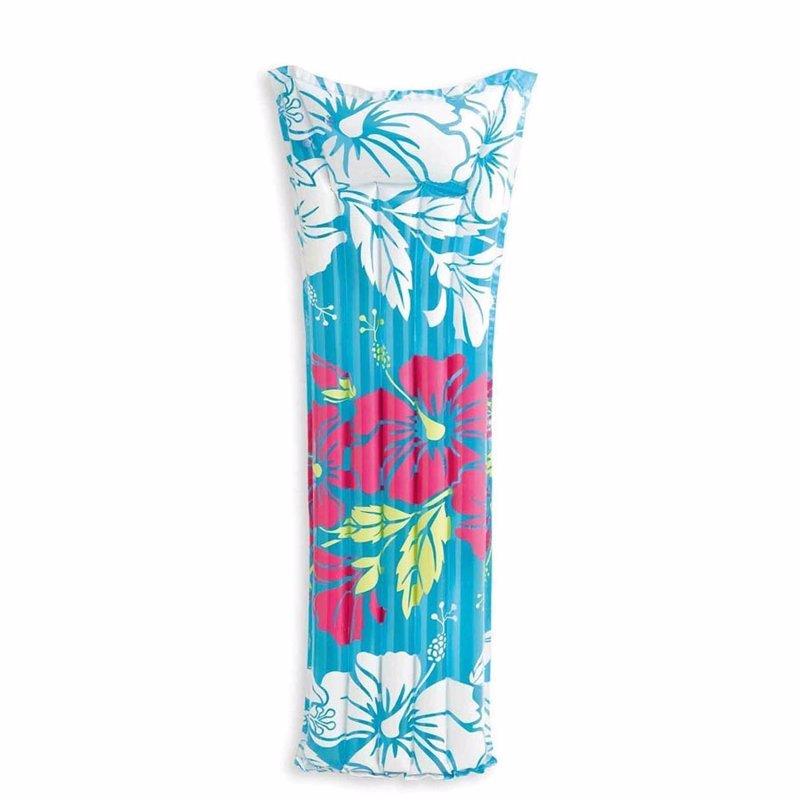 Пляжный надувной матрас для плавания Intex 59720 (Голубой) Fashion Mats (183х69 см)