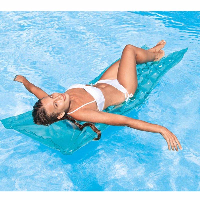 Пляжный надувной матрас для плавания Intex 59718 (Голубой) Relax-A-Mat (183х69 см)