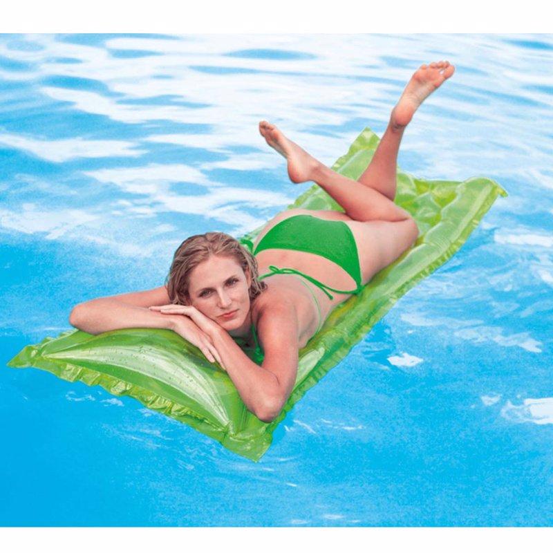 Пляжный надувной матрас для плавания Intex 59718 (Малахитовый) Relax-A-Mat (183х69 см)