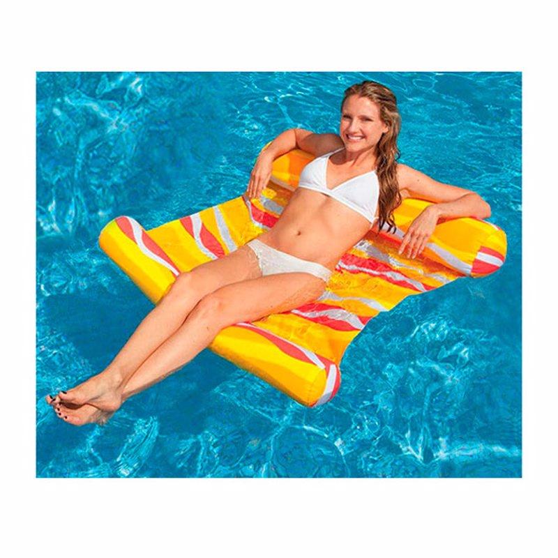 Пляжный надувной матрас-гамак для плавания Intex 58834 (Оранжевый) (137x99 см)