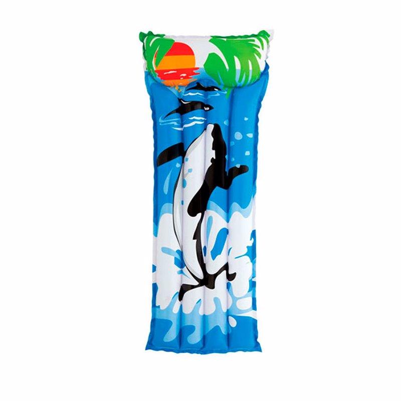 Пляжный надувной матрас для плавания Intex 58715 (С китом) (183х76 см)