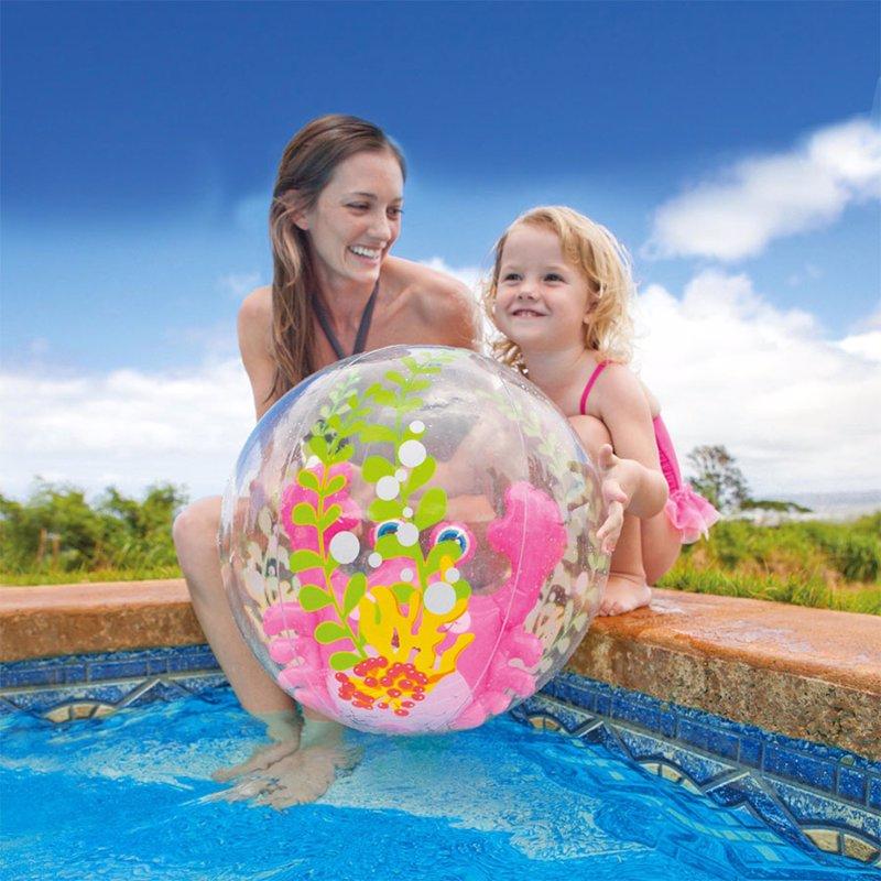 Надувной мяч Intex 58031 (Розовый) Aquarium Beach Balls (61 см)