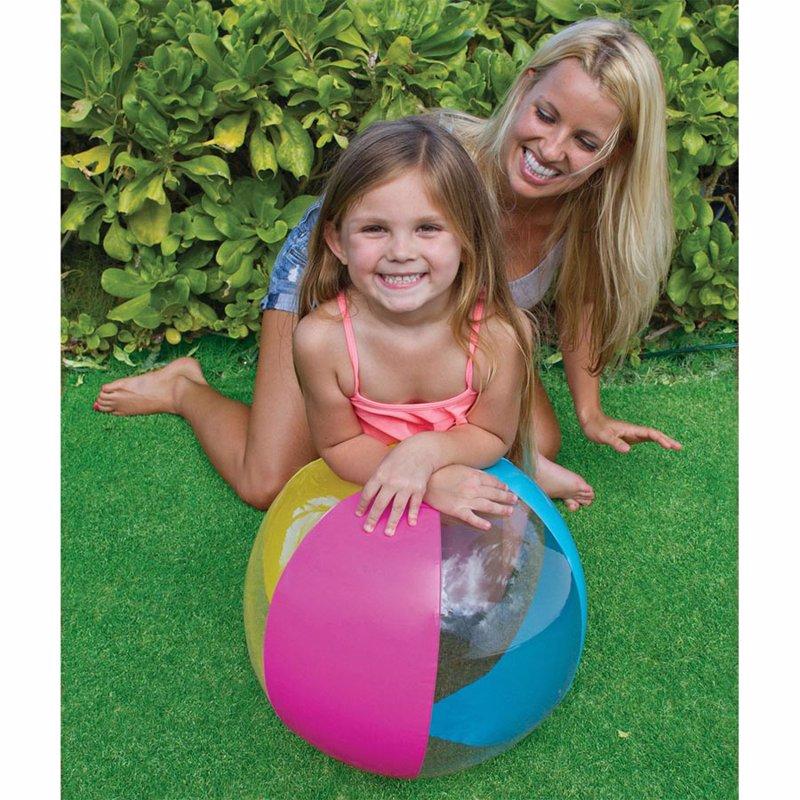 Надувной мяч Intex 59032 (Розово-голубой) Paradise Balls (61 см)