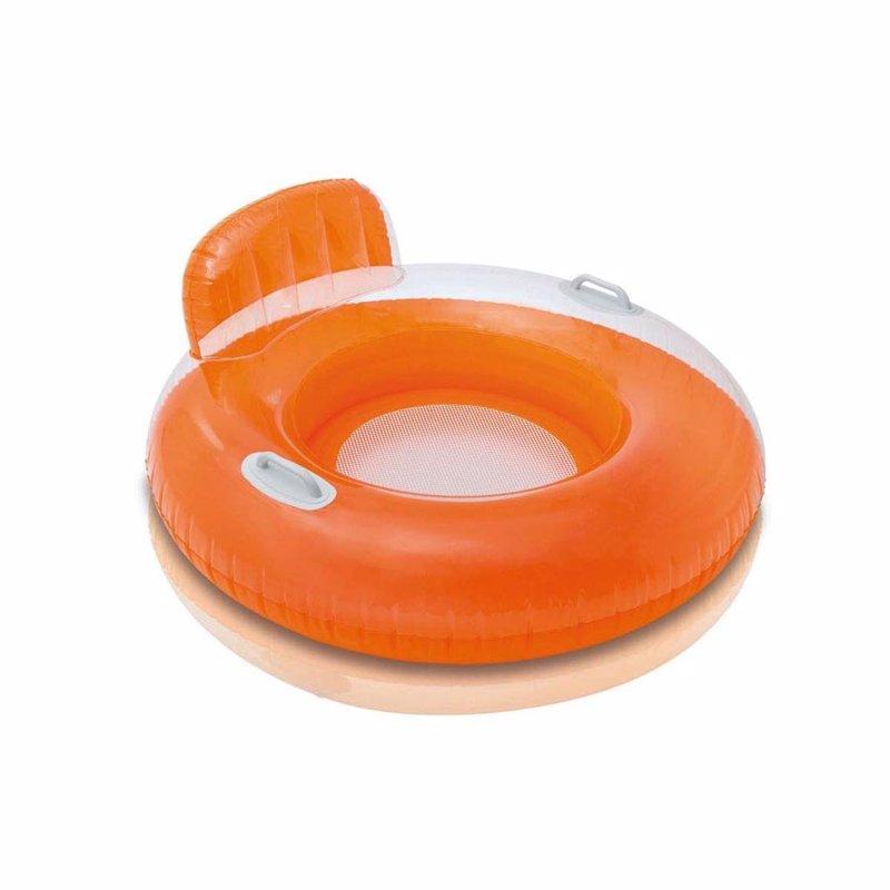 Надувной круг Intex 56512 с ручками Candy Color Lounges (102 см) Оранжевый