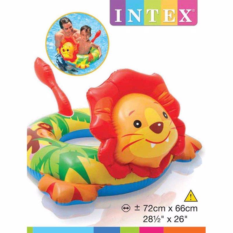 Детский надувной круг Intex 58221 Big Animal Rings (Львенок)