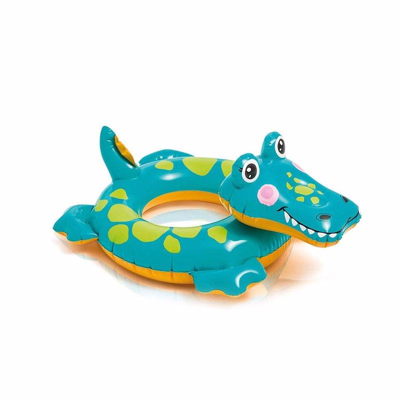Детский надувной круг Intex 58221 Big Animal Rings (Крокодил)