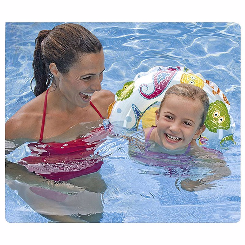 Детский надувной круг Intex 59241 (Осьминожки) Lively Print Swim Rings (61 см)