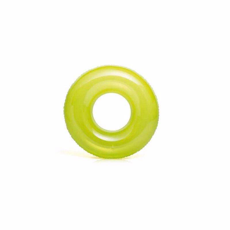Надувной круг Intex 59260 (Салатовый) Transparent Tubes (76 см)