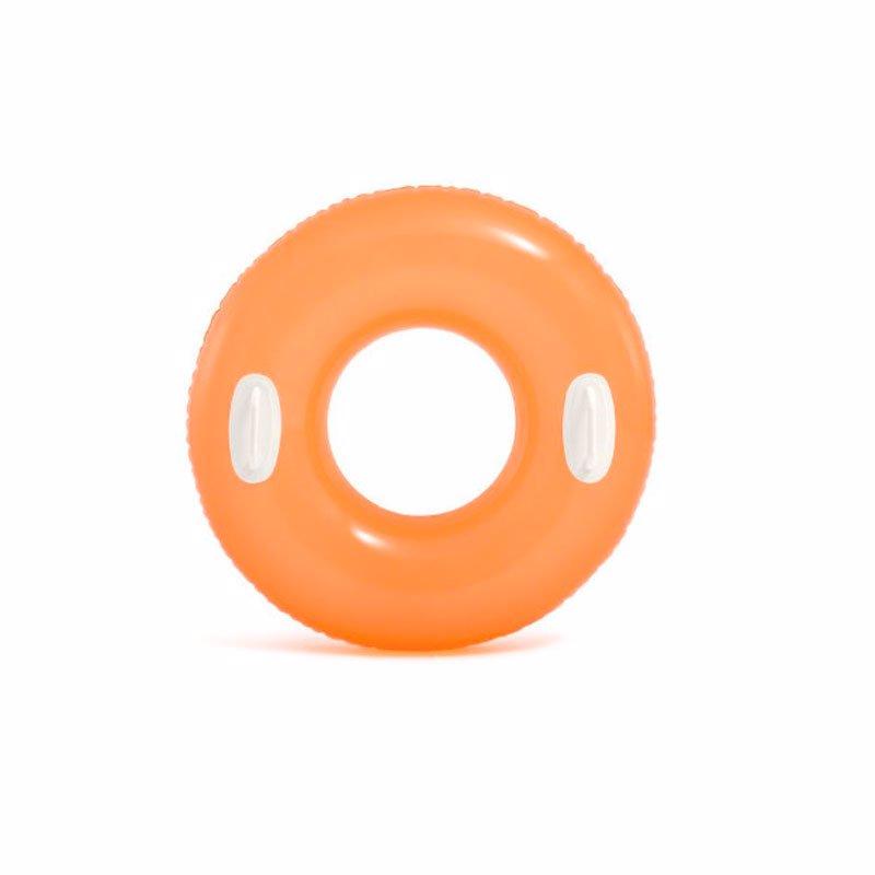 Надувной круг Intex 59258 с ручками (Оранжевый) Hi-Gloss Tubes (76 см)