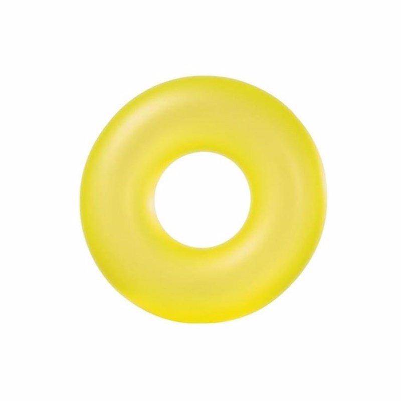 Надувной круг Intex 59262 (Салатовый) Neon Frost Tubes (91 см)