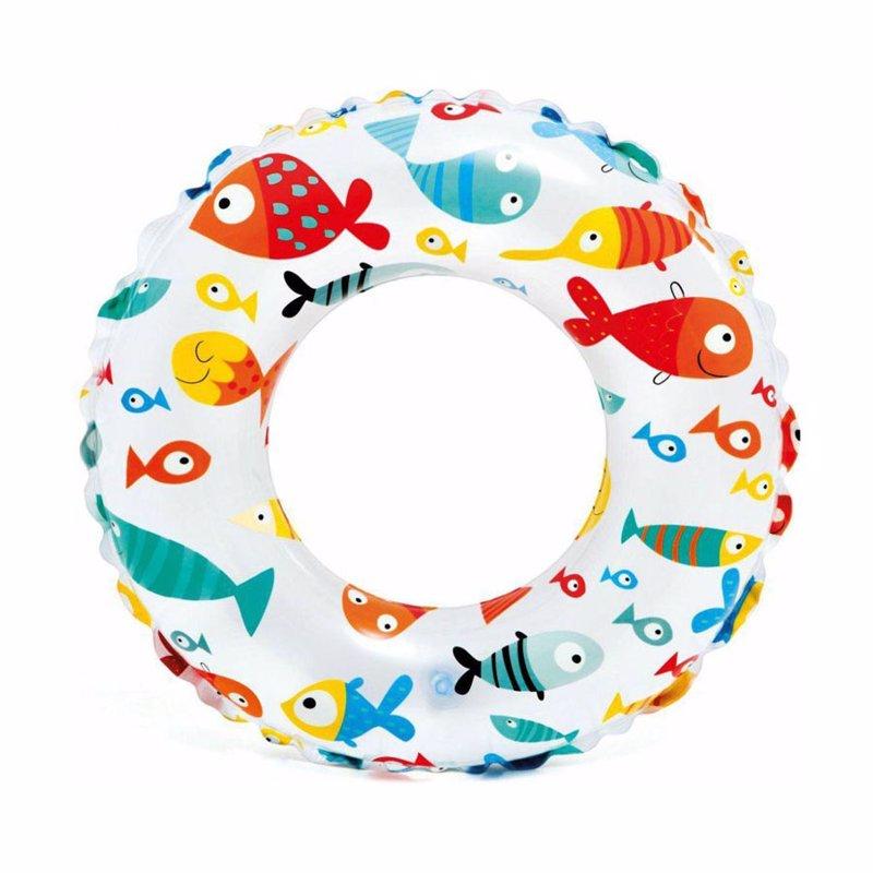 Детский надувной круг Intex 59230 (Рыбки) Lively Print Swim Rings (51 см)
