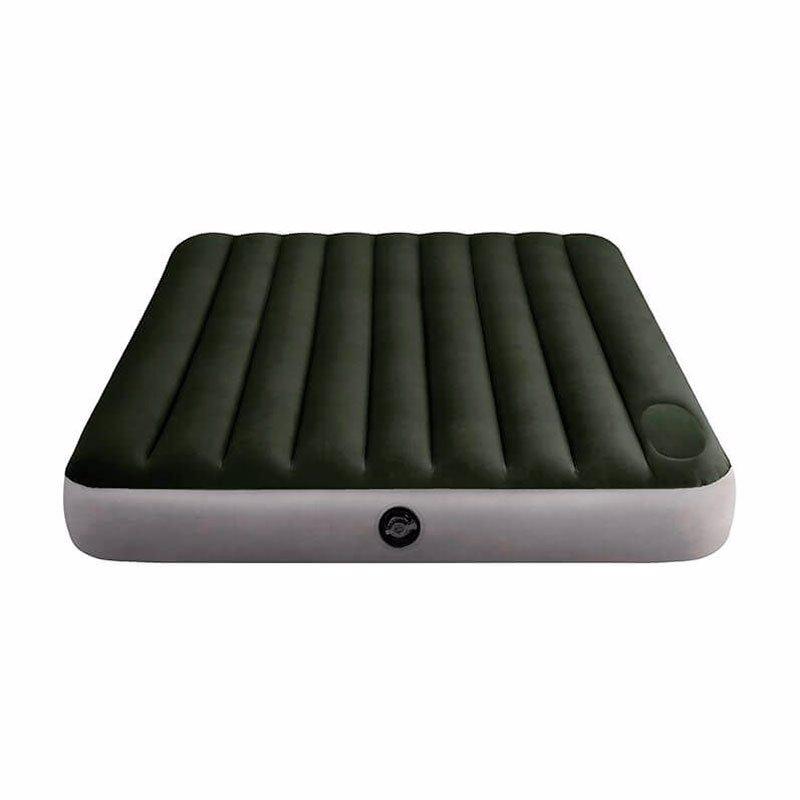Двуспальный надувной матрас Intex 64763 (152 x 203 x 25 см) Downy Airbed + Встроенный ножной насос