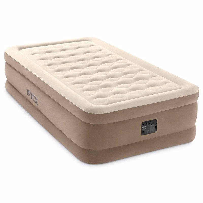 Односпальная надувная кровать Intex 64426 (99 x 191 x 46 см) Ultra Plush + Встроенный электронасос 220В