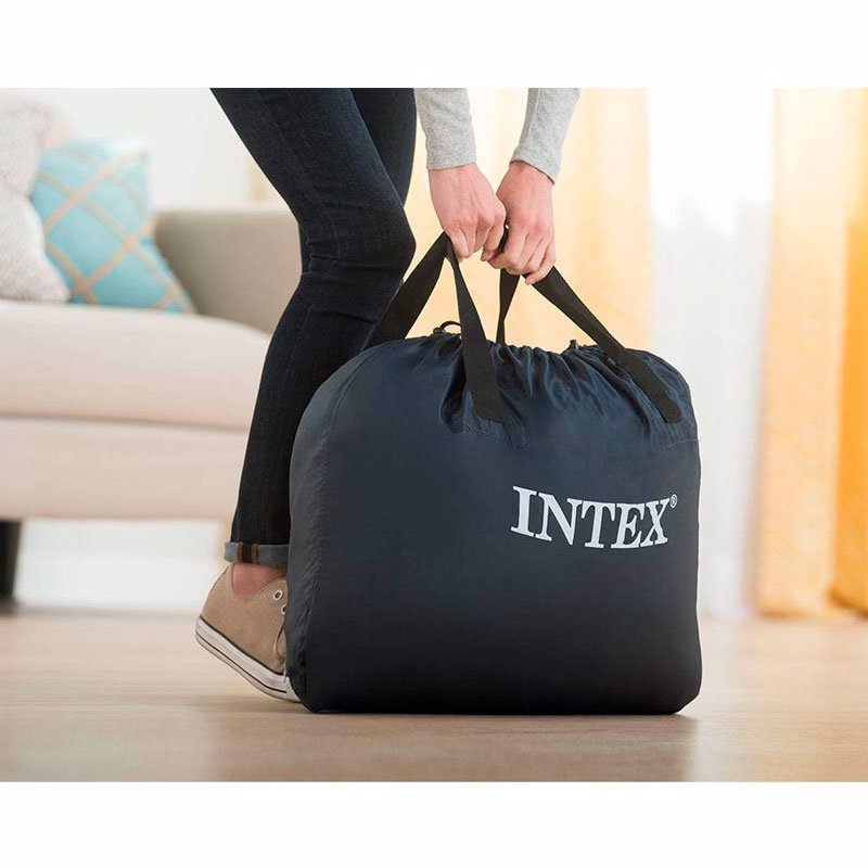 Односпальная надувная кровать Intex 64488 (99 x 191 x 51 см) Supreme Air-Flow + Встроенный электронасос 220В