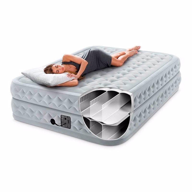 Двуспальная надувная кровать Intex 64490 (152 x 203 x 51 см) Supreme Air-Flow Airbed + Встроенный электронасос 220В
