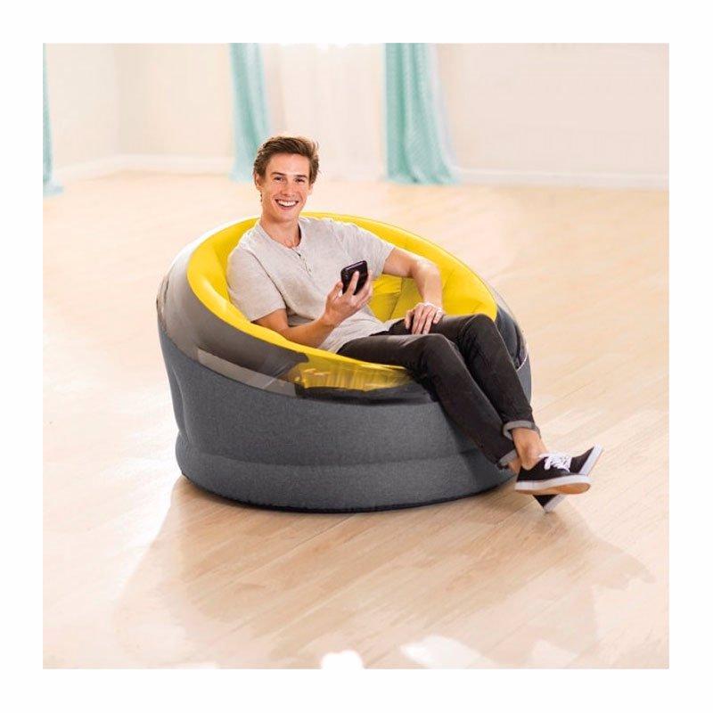 Надувное кресло Intex 66582 (112 x 109 x 69 см) Empire Chair (Желтый)