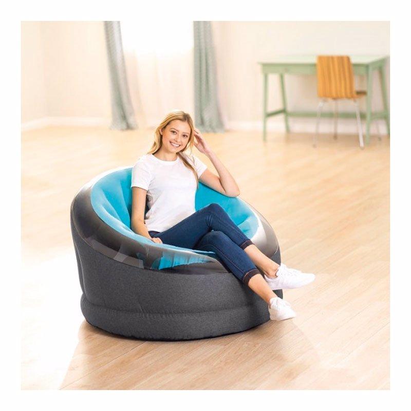 Надувное кресло Intex 66582 (112 x 109 x 69 см) Empire Chair (Голубой)