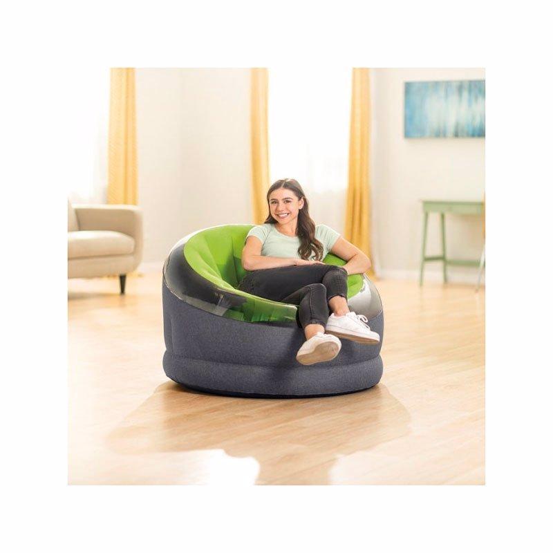 Надувное кресло Intex 66581 (112 x 109 x 69 см) Empire Chair (Зеленый)
