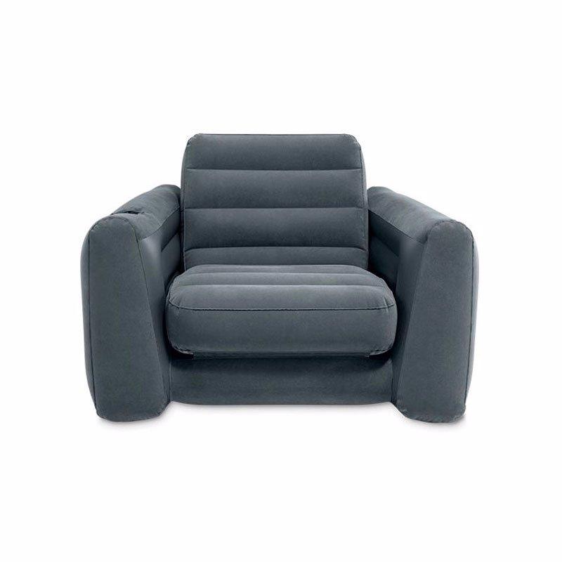 Надувное кресло-трансформер Intex 66551 (117 x 224 x 66 см) Устойчивое и комфортное Pull-Out Chair