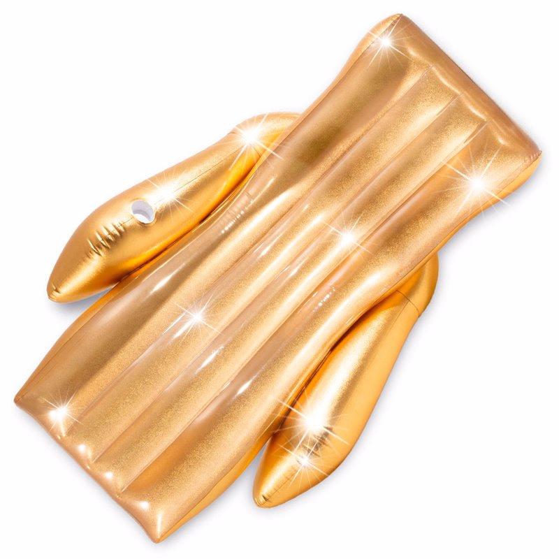 Пляжное надувное кресло Intex 56803 (175 x 119 x 61 см) Shimmering Gold Lounge