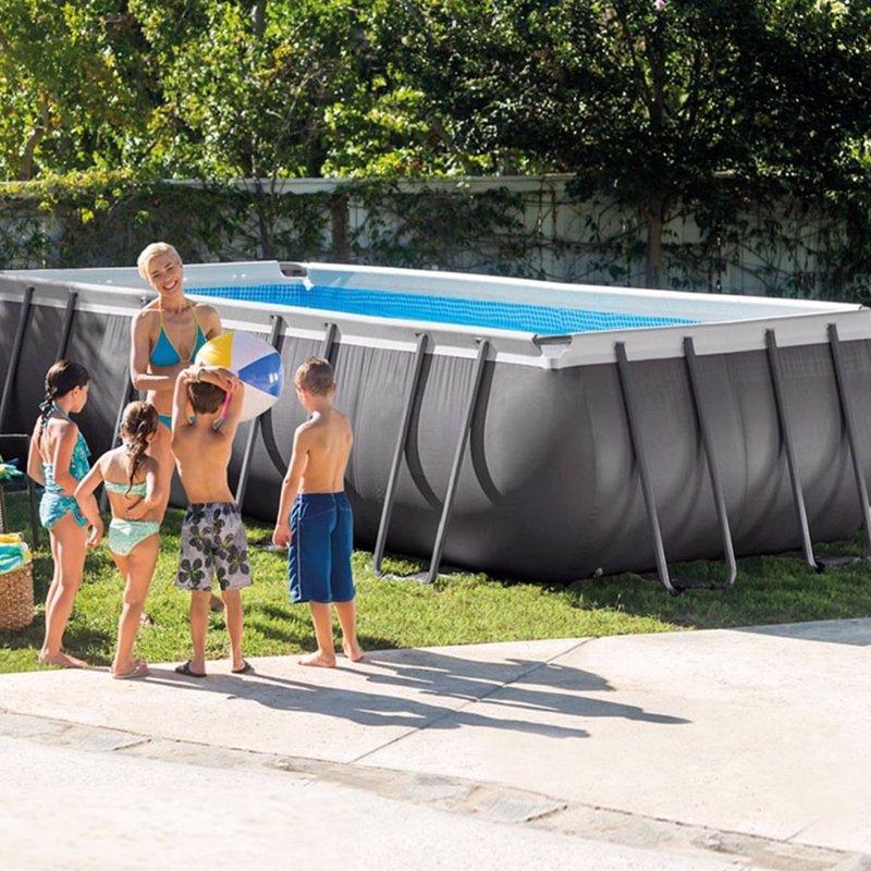 Прямоугольный каркасный бассейн Intex 26356 (Интекс 26352) Ultra Frame Rectangular Pool (549x274x132 см)