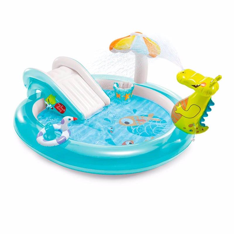 Водный надувной игровой центр Intex 57165 (201 x 170 x 84 см) Аллигатор