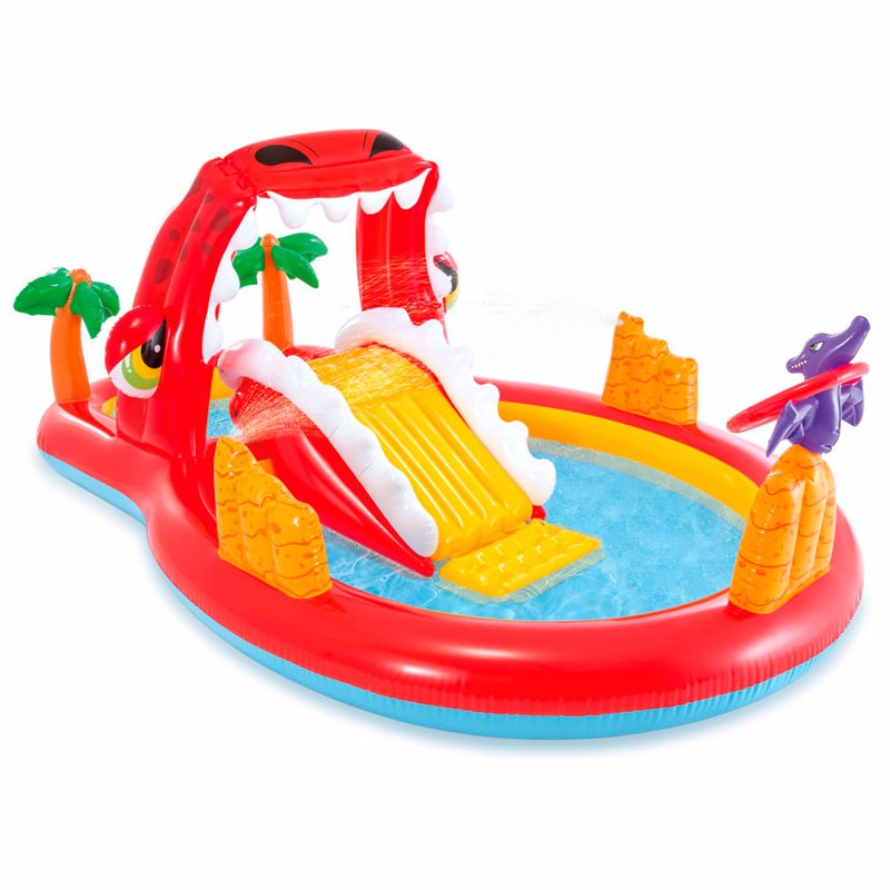 Водный надувной игровой центр Intex 57163 (196 x 170 x 107 см) Счастливый Динозавр