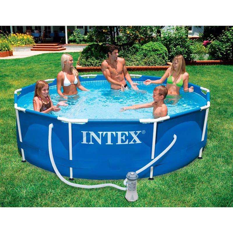 Круглый каркасный бассейн Intex 28202 (305х76 см) Metal Frame Pool