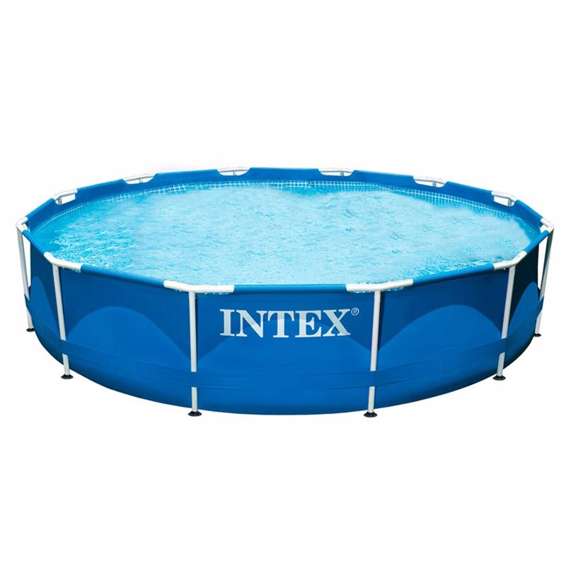 Круглый каркасный бассейн Intex 28210 (366x76 см) Metal Frame Pool