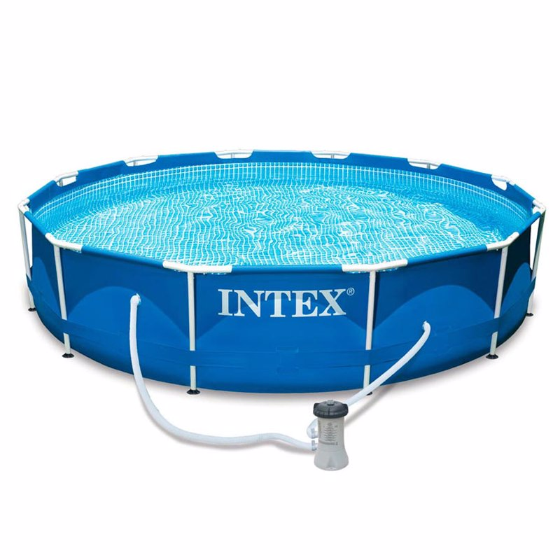 Круглый каркасный бассейн Intex 28212 (366x76 см) Metal Frame Pool
