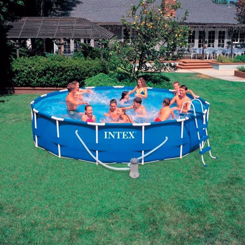 Круглый каркасный бассейн Intex 28232 (457x91 см) Metal Frame Pool