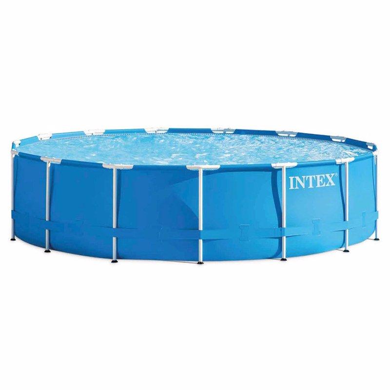 Круглый каркасный бассейн Intex 28734 (457x107 см) Metal Frame Pool