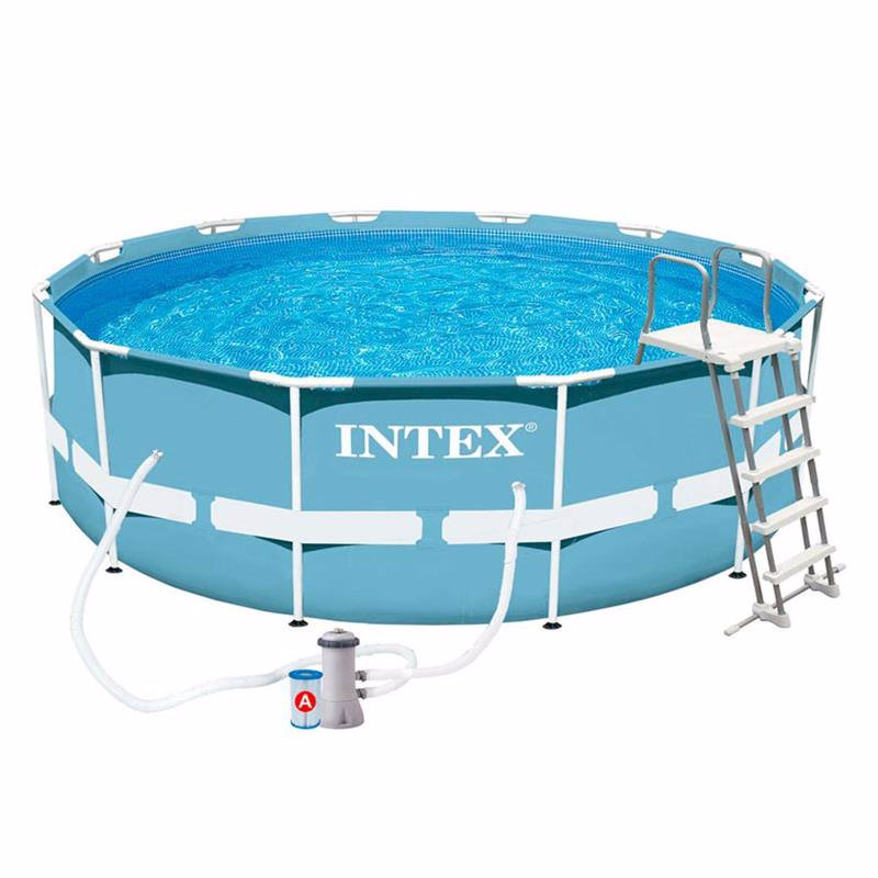 Круглый каркасный бассейн Intex 28718 (366x99 см) Prism Frame Pool
