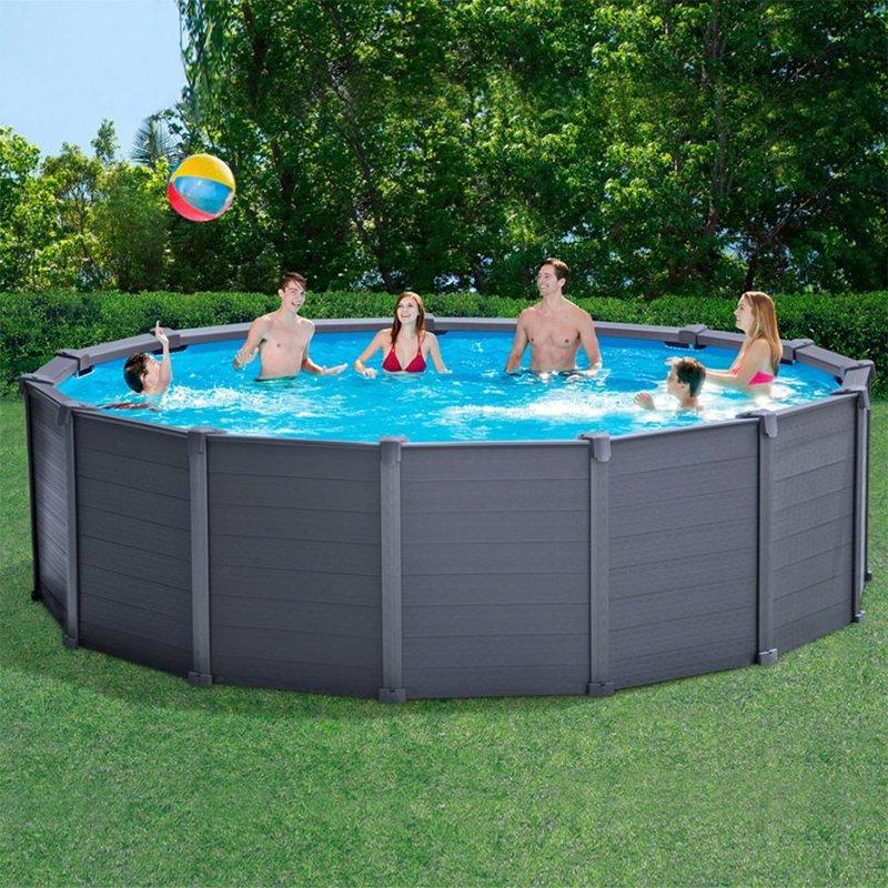 Круглый каркасный бассейн Intex 28382 (478x124 см) Sequoia Spirit Frame Pool