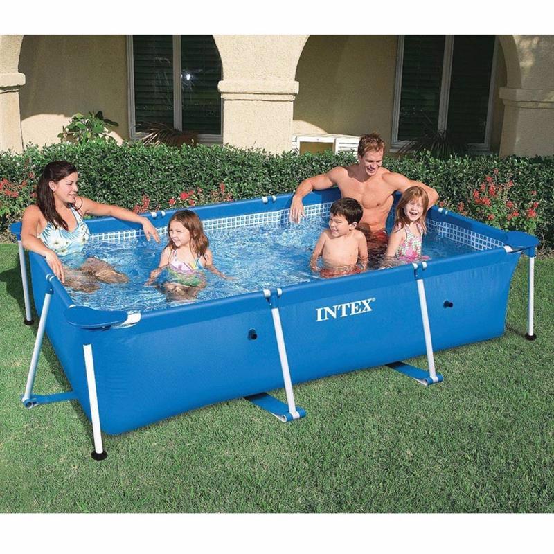 Прямоугольный каркасный бассейн Intex 28270 Rectangular Frame Pool (220x150x60 см)