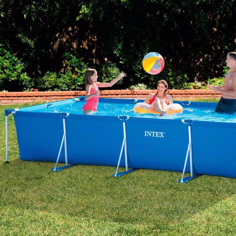 Прямоугольный каркасный бассейн Intex 28273 Rectangular Frame Pool (450x220x84 см)