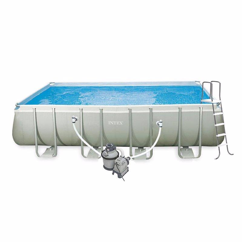 Прямоугольный каркасный бассейн Intex 28352 Интекс 54982 Ultra Frame Rectangular Pool (549x274x132 см)
