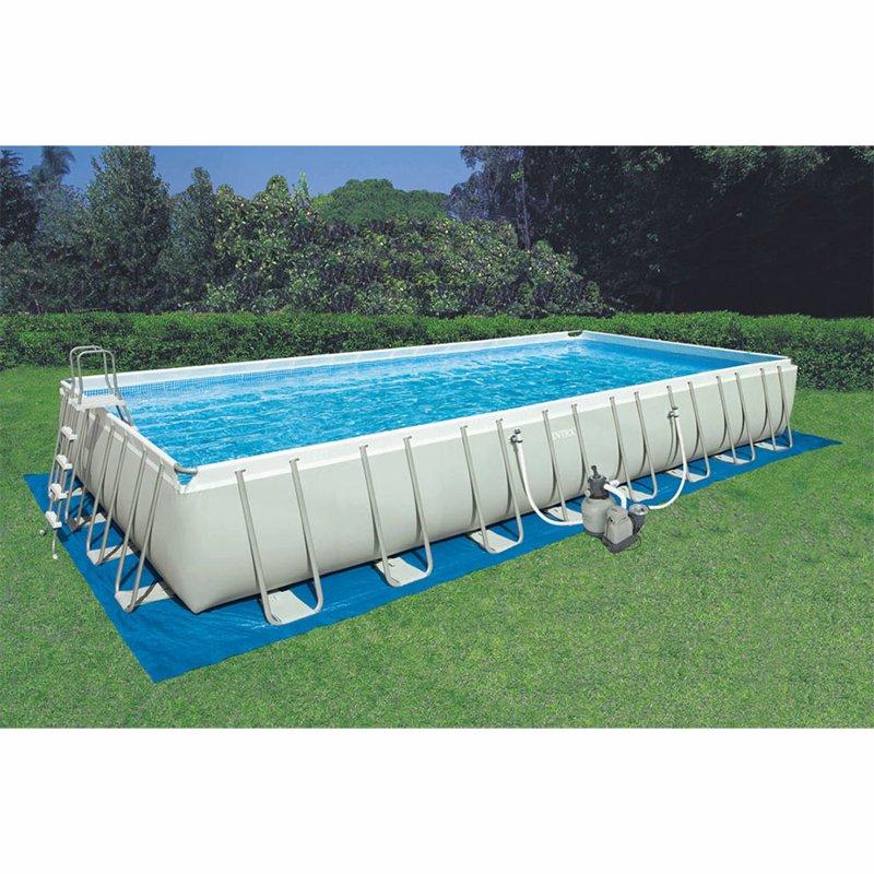 Прямоугольный каркасный бассейн Intex 26374 (975x488x132 см) Ultra Frame Rectangular Pool