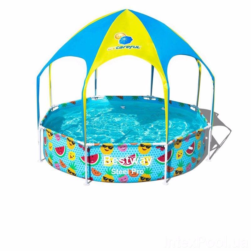 Круглый каркасный бассейн Bestway 56432 (244х51 см) Splash-In-Shade Play Pool