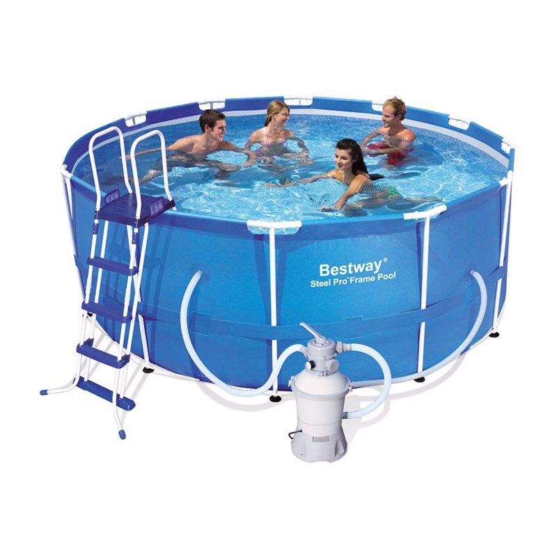 Круглый каркасный бассейн Bestway 56259 (366x122 см) Steel Pro Frame Pool