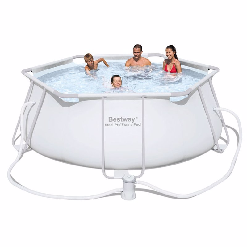 Круглый каркасный бассейн Bestway 56245 (330х102 см) Steel Pro Frame Pool
