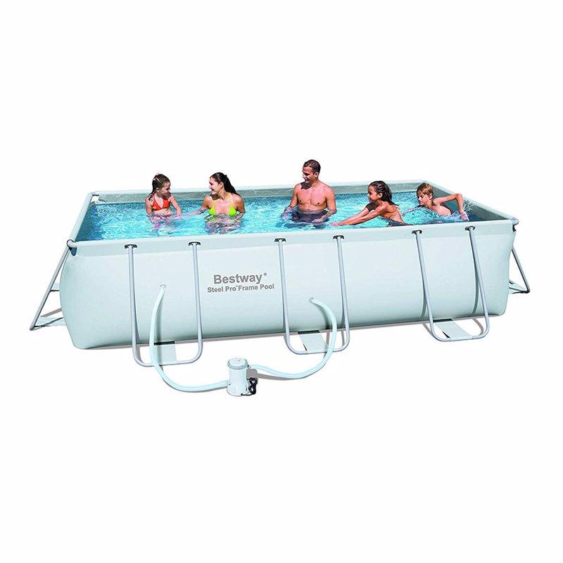 Прямоугольный каркасный бассейн Bestway 56251 Power Steel Frame Pool (404х201х100 см)