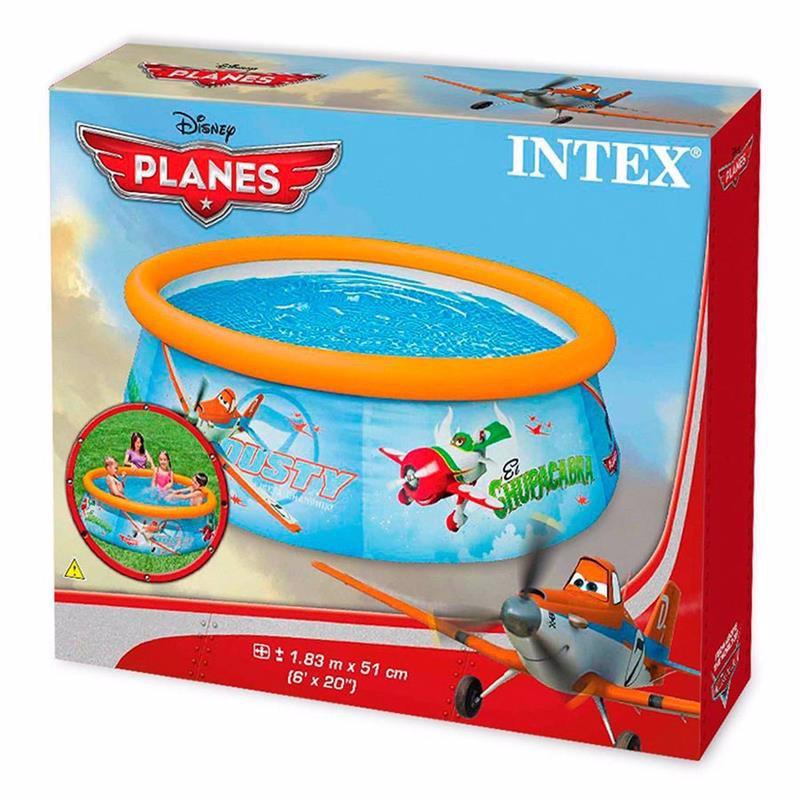 """Надувной бассейн Intex 28102 """"Литачки"""" Planes Easy Set Pool (183x51 см)"""