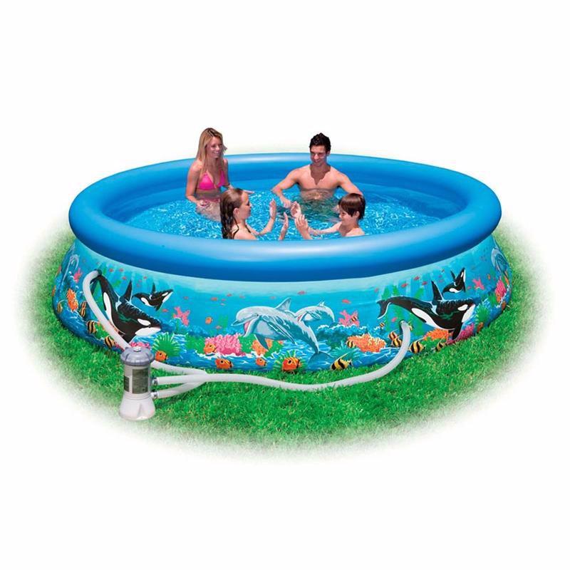 Надувной бассейн Intex 28136 Океанский Риф Ocean Reef Easy Set Pool (366x76 см)