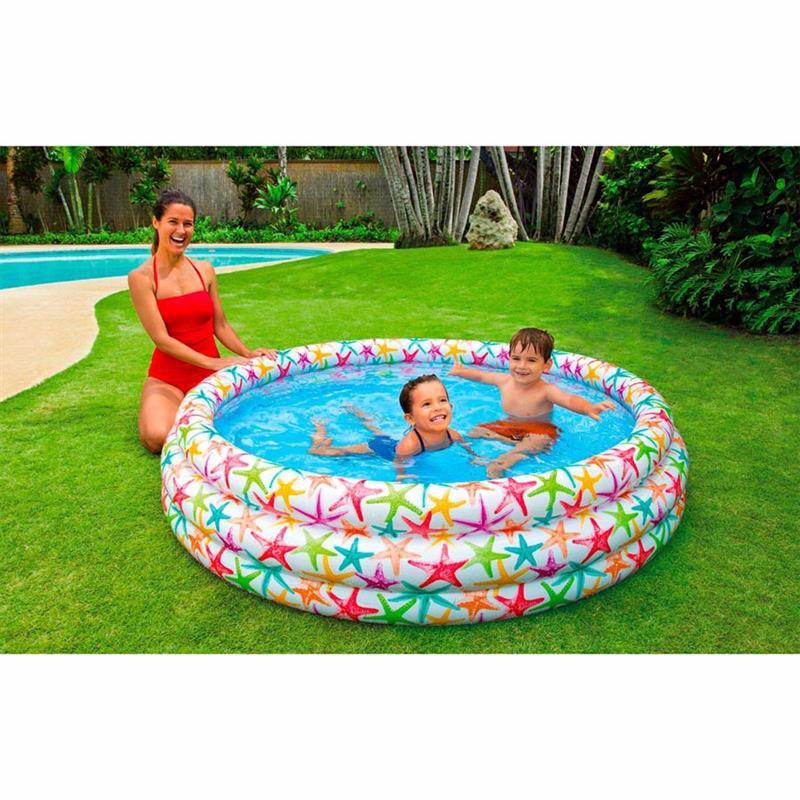 Детский надувной бассейн Intex 56440 Smiling Fish & Friends Pool (168x38 см)