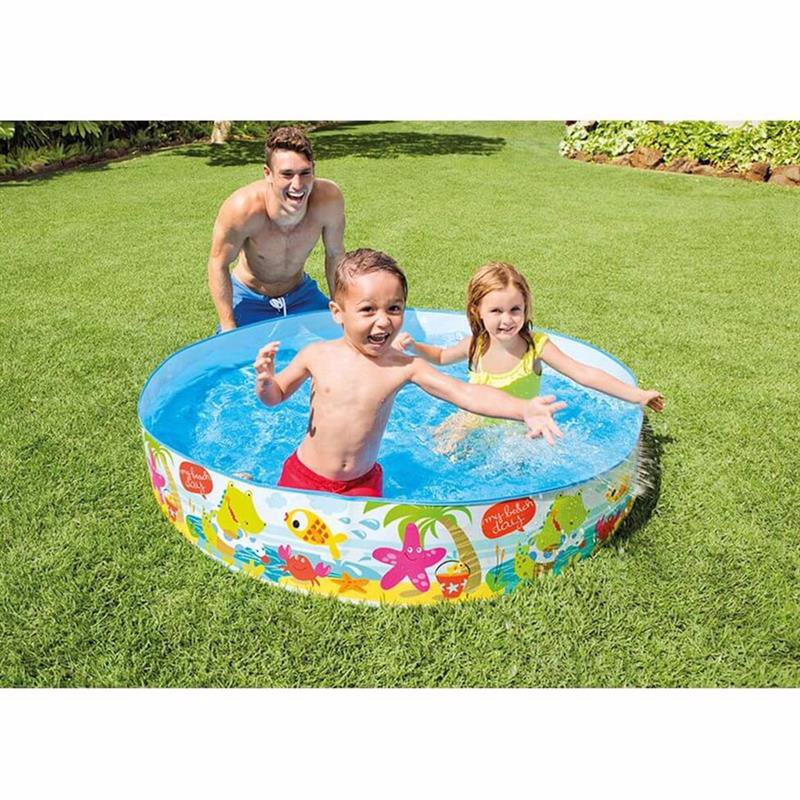 Детский каркасный бассейн Intex 56451 Snorkel Buddies Snapset Pool (152x25 см)