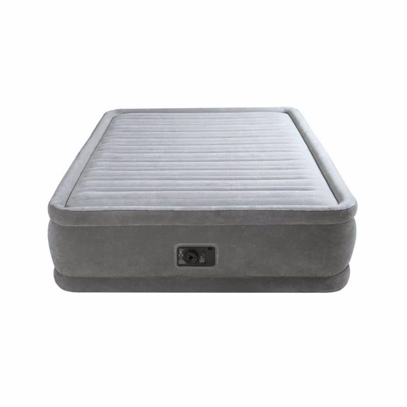 Двуспальная надувная кровать Intex 64414 (152 x 203 x 46 см) Comfort-Plush + Встроенный электронасос 220В