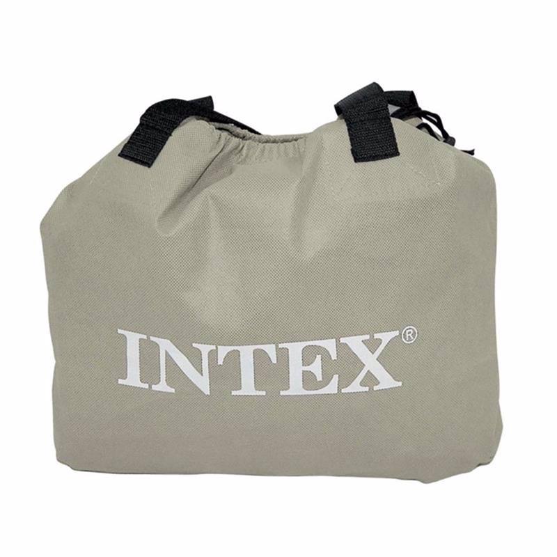 Двуспальная надувная кровать Intex 67770 (152 x 203 x 33 см) Comfort-Plush + Встроенный электронасос 220В