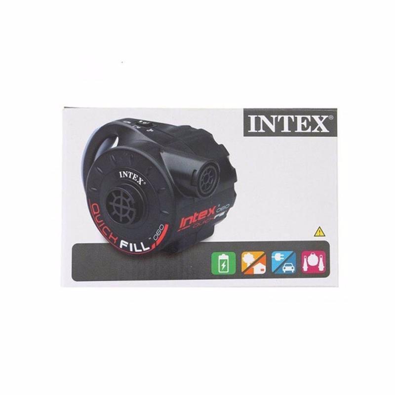 Аккумуляторный электронасос Intex 66622 (650 литр/мин) Quick-Fill™ Rechargeable (Работает от: сети 220В, прикуривателя 12B, аккумулятора)